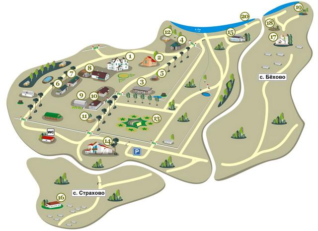 План территории музея