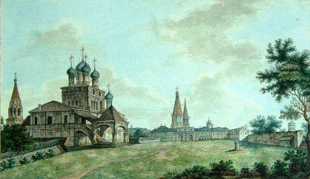 А.Васнецов.Церковь Вознесения. Ворота в башне Часозвона.