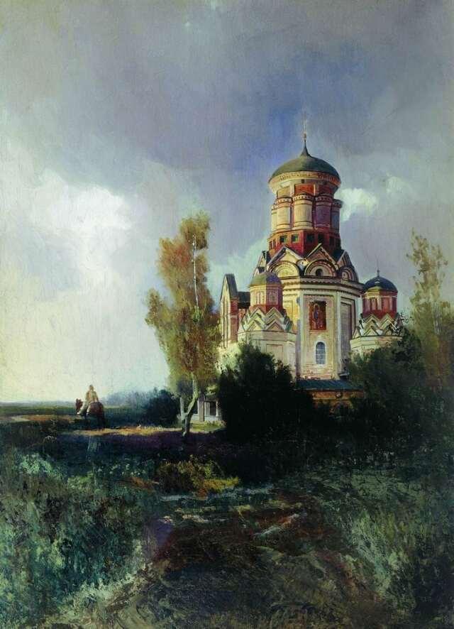 К.Маковский. Церковь Усекновения в селе Дьякове.