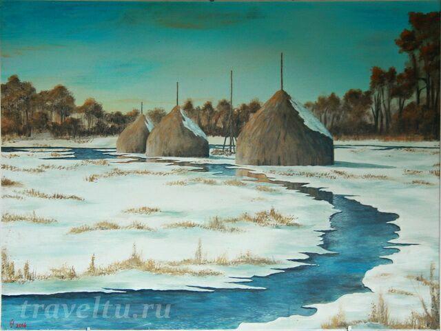 Картина Люббенау зимой