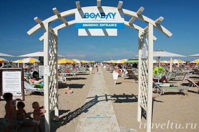 Один из пляжей Римини