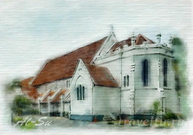 Кафедральный собор св Анны в Куала-Лумпуре Тюдорский стиль