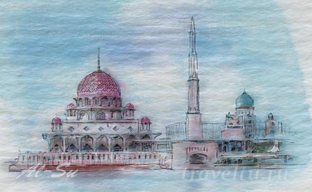Мечеть Путра в Куала-Лумпуре
