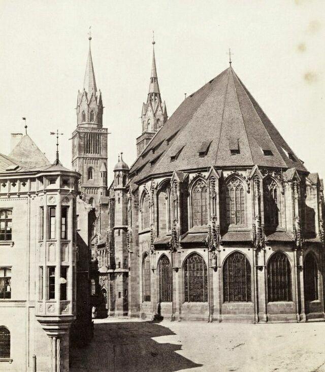 Церковь св. Лаврентия на старой фотографии