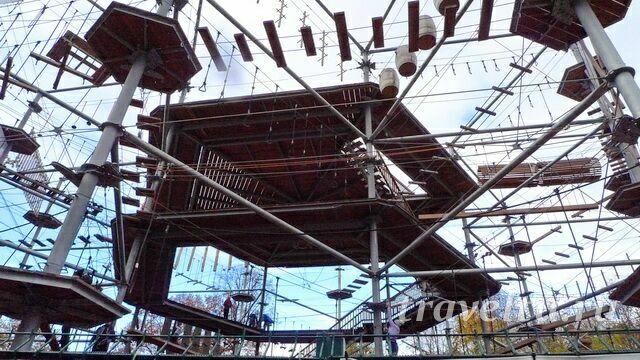 Верёвочный парк еа ВДНХ башня Skytown