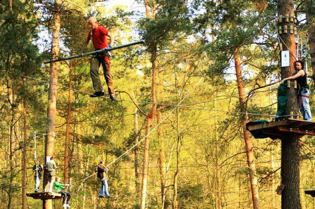 Верёвочный парк в природном парке Хайде