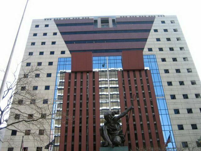 Здание общественной приемной в Портленде – пример архитектуры постмодернизма