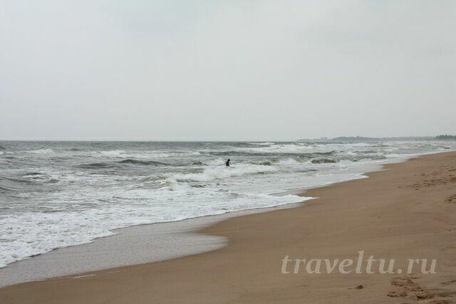 Море в Нилавели декабрь-январь