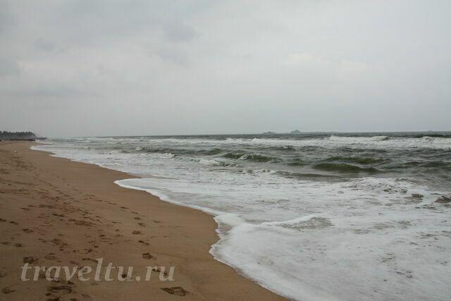 Пляж в не сезон