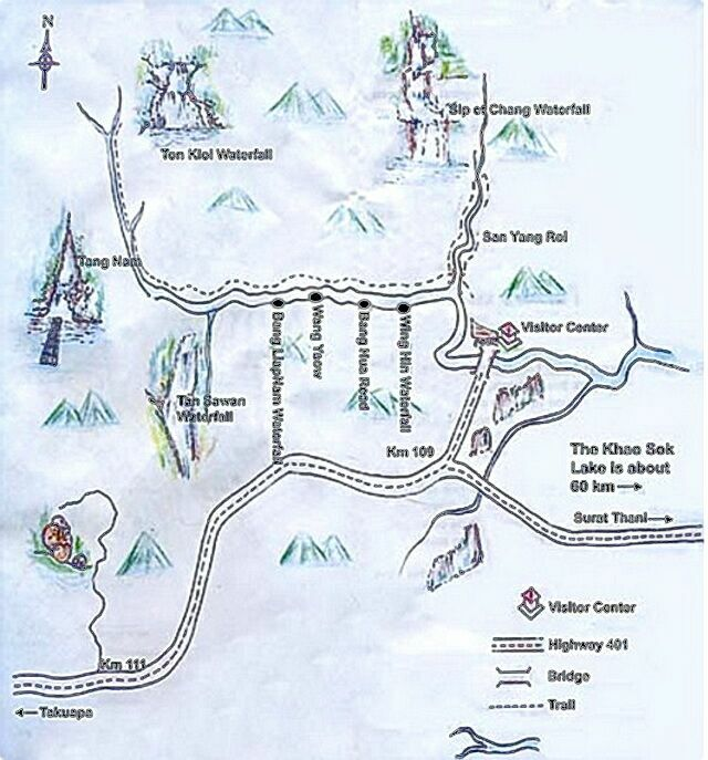 Схема парка Као Сок