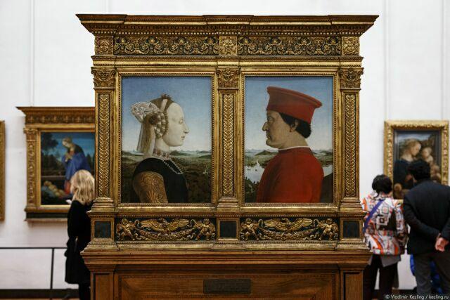 Портреты герцога Урбино Федериго да Монтефельтро и герцогини Баттисты Сфорца