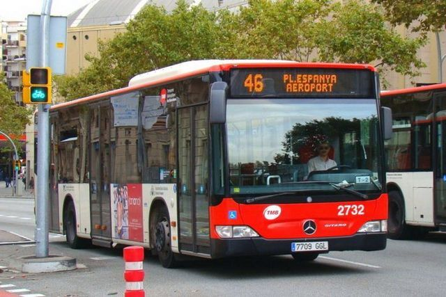 Автобус №46 аэропорт Барселоны