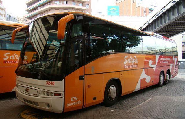 Междугородний автобус из аэропорта Барселоны