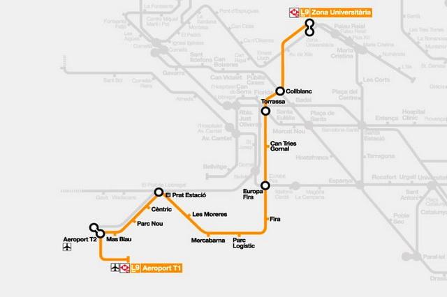 Схема метро L9